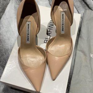 Manolo Blahnik Pointed D'orsay Shoe